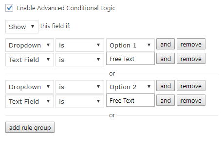 Advanced Conditional Logic Pro for Gravity Forms